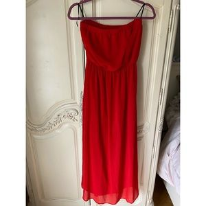Sale! Red Tube Top Dress size M